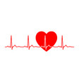 ecg line heart beat monitor pulse line art vector image