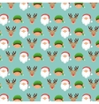 elf santa and reindeer background Merry Christmas vector image