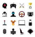 esports flat icons vector image