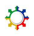 explorer compass direction colours symbol design vector image