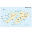 falkland islands also malvinas political map vector image vector image