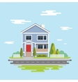Flat design Family home Flat vector image