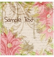 Floral grungy background with a handwriting and vector image