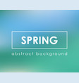 fresh green blue spring card background vector image vector image