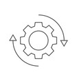 gear rotation icon vector image