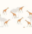 giraffe cartoon style realistic character drawing vector image