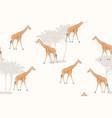 giraffe cartoon style realistic character drawing vector image