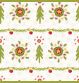 green christmas tree wreath stripes winter vector image vector image