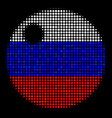 halftone russian sphere icon vector image