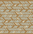 herringbone blue and gold hand drawn simple vector image vector image