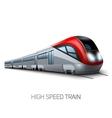 High Speed Modern Train vector image vector image