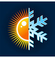 Hot and cold temperature symbol vector image