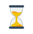 hourglass icon flat style simple design vector image vector image