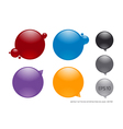 ink buttons vector image vector image