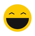 Laughing smiley icon flat style vector image vector image