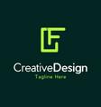 letter f minimalist logo design vector image vector image
