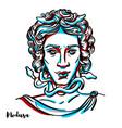 medusa portrait vector image vector image