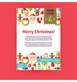 Merry Christmas Holiday Invitation Template Flyer vector image vector image