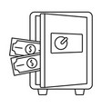 metal safe icon outline style vector image vector image