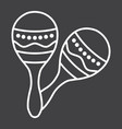mexican maracas line icon music and instrument vector image vector image
