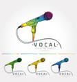 microphone logo vector image vector image