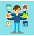Multi tasking manager office vector image vector image