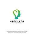 nature head science logo head intelligence logo vector image vector image