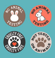 no animal testing and cruelty free vector image vector image