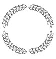 olive branches forming circle in monochrome vector image vector image