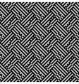 Op art seamless geometric striped pattern vector image vector image