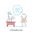 orthodontist says to a patient about tooth vector image vector image