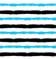 Painted Striped Blue Black Pattern vector image vector image