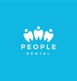 people dental logo icon vector image vector image