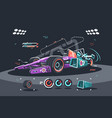 racing car of f1 vector image