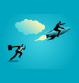 running businessman racing with a businessman on vector image vector image