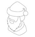 Santa Claus head icon outline style vector image vector image