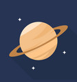 saturn icon set of great flat icons with style vector image