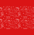 seamless pattern christmas ornament vector image
