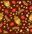 seamless pattern russian tea party graphics vector image vector image