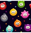 Seamless pattern with jelly characters vector image