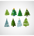 Set of trees on a light background vector image vector image