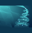 sparkling christmas tree made of wave flow vector image