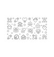 stay home concept outline horizontal vector image vector image