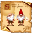 Story of a little gnome two cute grandfathers vector image vector image
