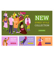 street fashion banners set vector image vector image