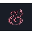 Stylish custom pink ampersand vector image vector image
