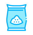 sugar package icon outline vector image vector image