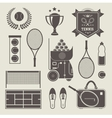 Tennis icons vector | Price: 3 Credits (USD $3)