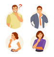 thinking people set vector image vector image