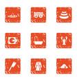 tragic role icons set grunge style vector image